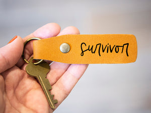 Survivor leather keychain - Kingfolk Co