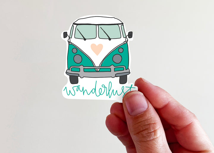 Wanderlust Vintage Van Sticker - Kingfolk Co