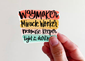 Waymaker Sticker - Kingfolk Co