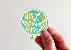 He's Got the Whole World in His Hands Sticker - Kingfolk Co