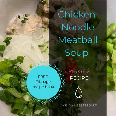 Asian Chicken Noodle Meatball Soup