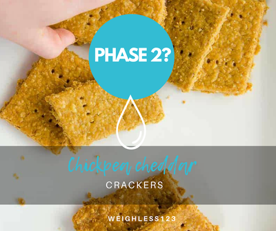Chickpea Cheddar Sesame Cracker