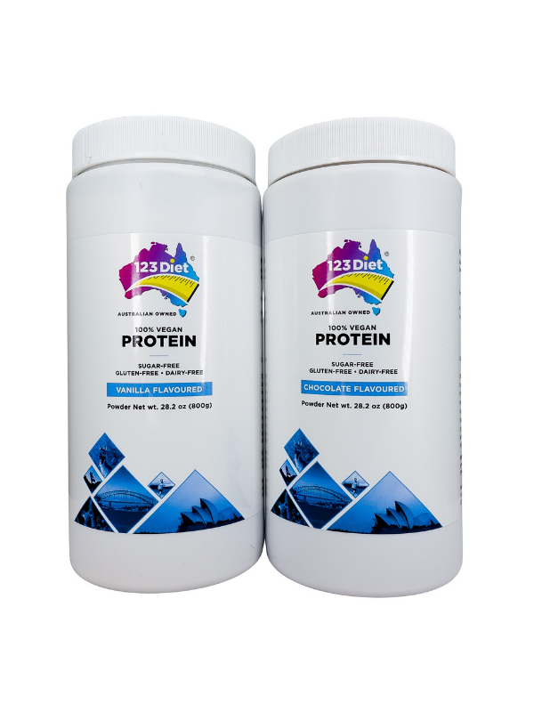 123 Diet Protein Powder - Bundle Chocolate & Vanilla - Plus Free bottle of Weight Maintain