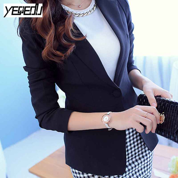 Work Office Wear Blazer Women Spring 2020 Slim Hot Sell Women Blazers And Jackets Candy Color Coat Black/Pink/White/Blue