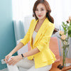 2020 Autumn Long-sleeved Solid color Short Blazer Women Slim Ruffled Suit Female Casual Rose Blazers Female DAN241
