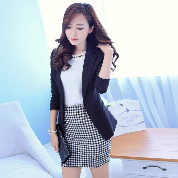 Autumn Winter Women Blazers And Jackets Female Casual Long Sleeve Coat Outerwear Girls Solid Formal Blazers Slim Suits