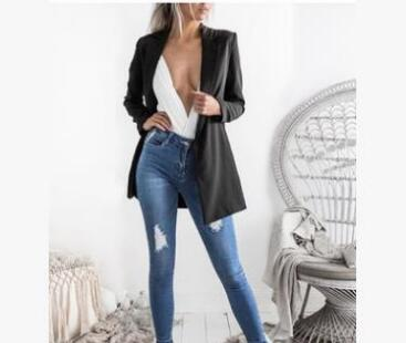 New Fashion Basic Jacket Blazer Women Suit Cardigan Puff Sleeve Ladies Autumn Plus Size Brand Coats Casual blazer female