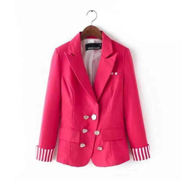 New Spring Automn Ladies  Suit Slim Women Basic Jacket Casual Outwear Women Blazers And Jackets WWT9967