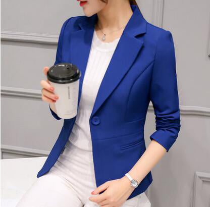 2020 Spring New Women Blazer Jacket Fashion Slim Korean Females Small Suit Coat Long sleeve Casual Temperament Tops WLX1075