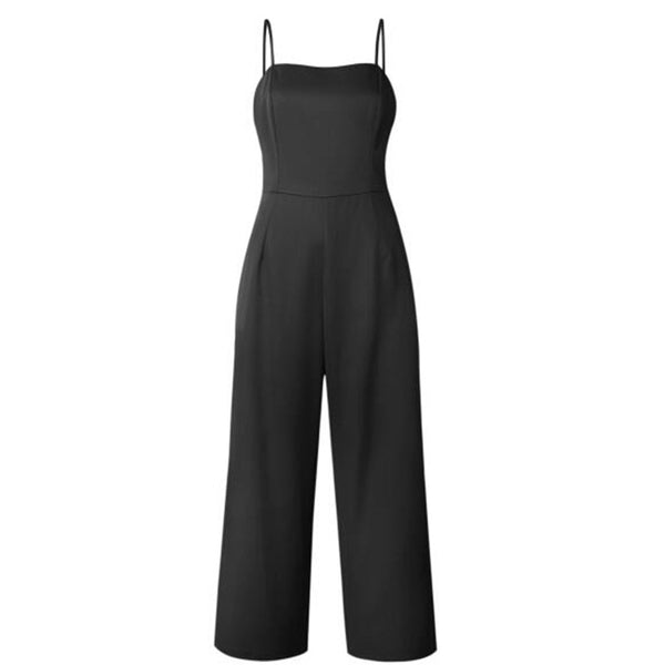 Spring Summer New Spaghetti Strap Zipper Sexy Jumpsuits Fashion Style Womens Rompers Jumpsuit Summer Jumpsuit ZLD785