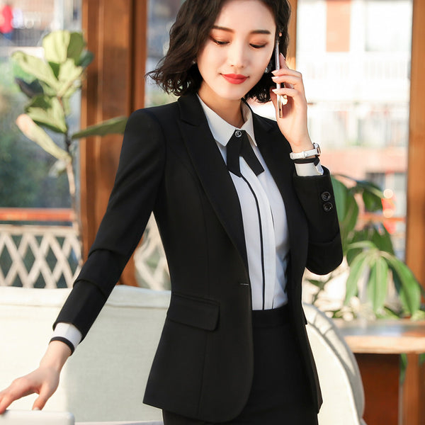 2020 Spring new Business blazer plus size fashion office formal female long sleeve jacket work wear slim Interview outerwear