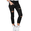 Trousers Women White Pants With High Waist Ripped Jeans For Women Denim Plus Size Black Mom Female Boyfriend Jeans Woman