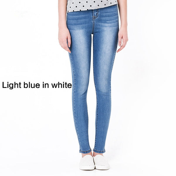 spring Jeans For Women Skinny High Waist plus size Blue Denim Pencil Stretch Trousers for woman