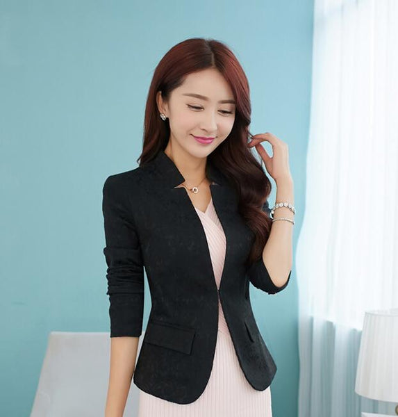 2020 spring new stand collar small suit jacket female Slim long sleeve suit jacket women blazers coat female outerwear woman