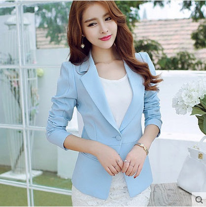 women fashion Long sleeve Casual blazers Female plus size formal slim blazers jackets Black office ladies work wear suits