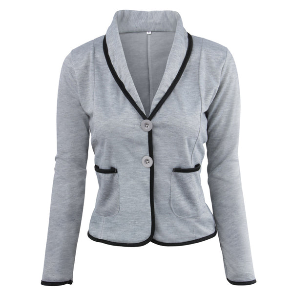 Women Spring Short Blazers Single Button Long Sleeve Jackets 2020 New Female Causal Suit Blazer Plus Coat S~6XL LZ664