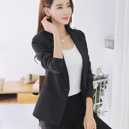 New 2020 Spring Autumn Ladies Blazers Office Blue Slim Suits Womens Jackets Blazer  Casual Outwear High Quality LX1390