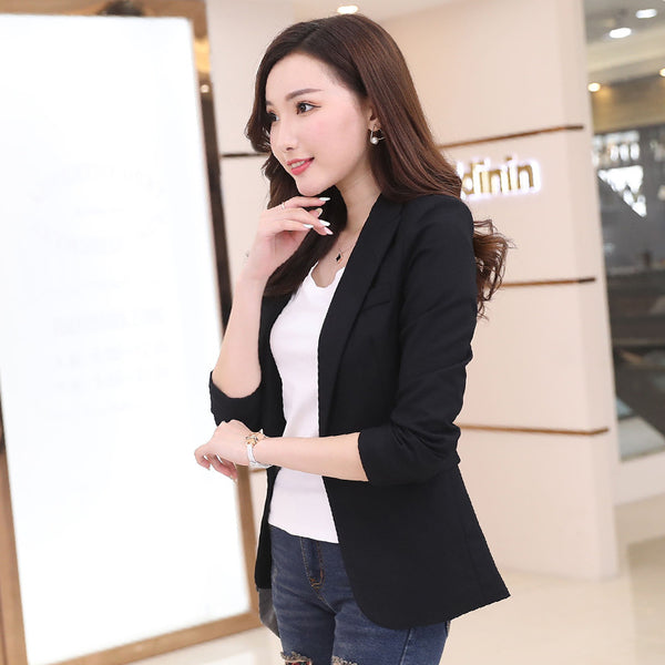Autumn Blazer Women Korean Elegant  Formal Office Slim Long Sleeve Ladies Blazers Casual Female Suit jacket