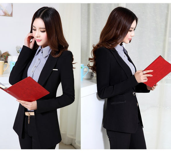 Autumn female High Soft blazer outerwear slim Long-sleeved Office jacket Suit black blazer women Large size 4XL Femme