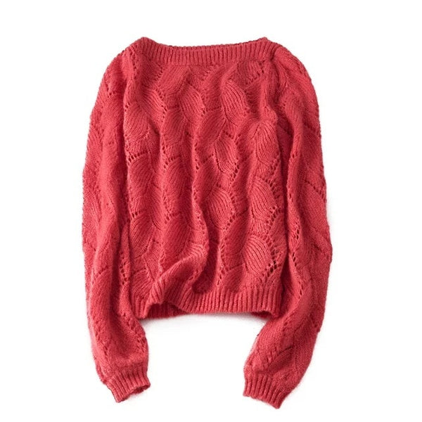 Autumn winter women  pullovers French style long sleeve casual crop sweater slim Soft knitted jumpers sweater mujer Top