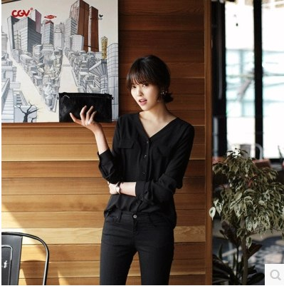 Fashion Blouse Long Sleeve Tops Women Button V Neck Plus Size Top Summer Shirts Office Ladies Button Blusas Feminina