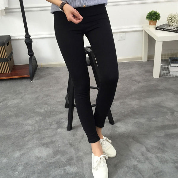 Basic Skinny Womens Jeans Ankle Pencil Pants Slim Elastic Denim Pants Jean Leggings Female Cotton Jeggings Jeans Women