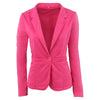 Ladies Yellow Blazer Feminino Plus Size Formal Jacket Women's White Blaser Rosa Female Blue Women Suit Office Ladies