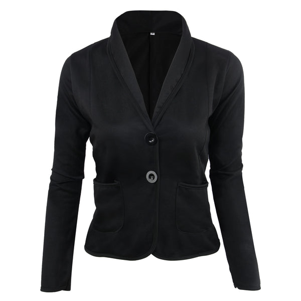 Women Short Coat Jackets Office Ladies Blazer Big Size New Fashion Spring Fall Coats Women's Turn Down Collar S-6XL