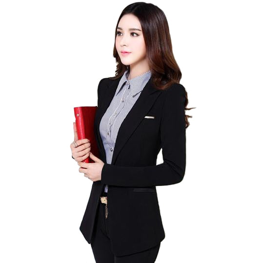 Big Size 4XL Blazer Feminino Spring New Long Sleeve  Korean Style Women Suits Elegant Slim Long Blazer Women
