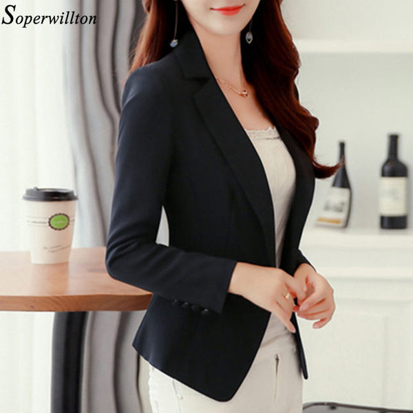 Blazer Feminino Ladies Blazer Suit Jacket Female Spring New Long Sleeve Double Breasted Suit Blazer Women Blaser Mujer BL08