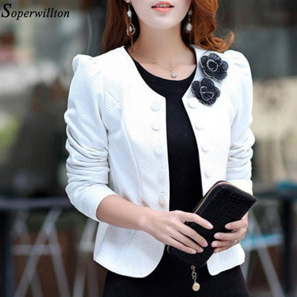 Blazer Mujer Feminino Suit Jacket Female 2020 Spring Long Sleeve Ladies Blazers Office Tops Double Breasted Short Coat  BL01