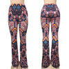 Boho Flare Pants Women Bohemian Fashion Loose Long Pant Tribal African Print Wide Leg Trousers Bell Botto Leggings Hippie Pants