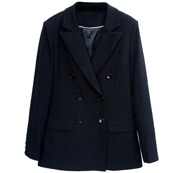 High Quality Double Breasted Suits Blazers Spring and Autumn Vintage Slim Casual Fashion Women Blazers and Jackets