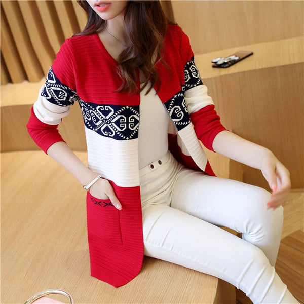 Cardigan Sweaters Women Knitted Coat Women's Sweater Top Feminine Clothes Long Sleeve Warm Jacket Korean Style Autumn Winter 082