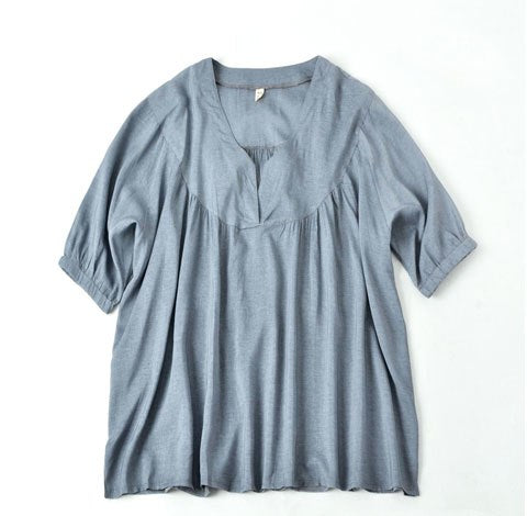 Chinese Style Big Size Linen Cotton Blouse Women 2020 Elegant Pullover Batwing Sleeve Shirt Plus Size Womens Blouses Blusa Shirt