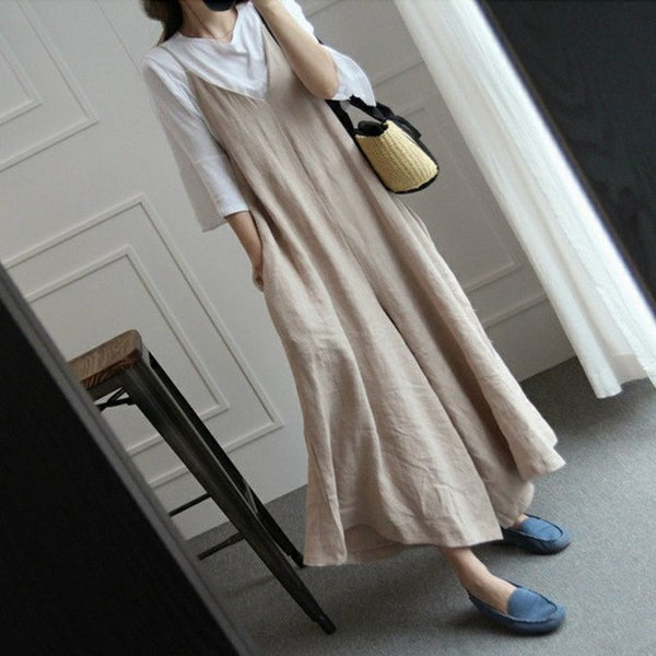 Preppy Style Ladies Rompers Cotton Linen Women Summer Vintage Jumpsuits Mori V-neck Vintage Loose Overalls Playsuits