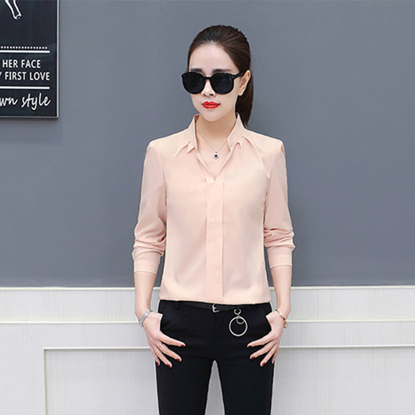 9a9c19209932 2018 Spring Summer Women Shirt Korean Long Sleeve Fashion Casual Womens Tops  And Blouses Chiffon Loose