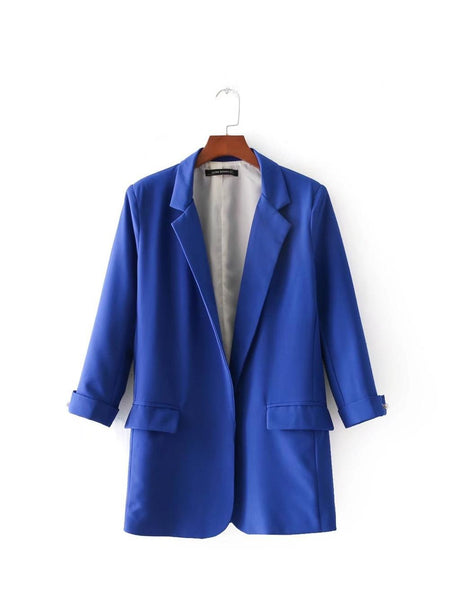 New Office Lady Women's Blazer Spring Large Size Pockets Basic Tops Casual Fashion Blazers Female Coats