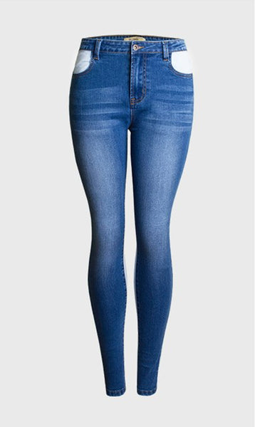 Elastic Spliced high waist jeans women Pencil Pants skinny jeans woman jean denim pants pantalones vaqueros mujer femme jeansy