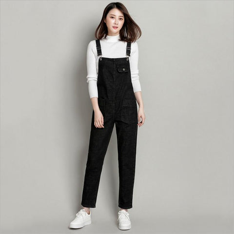 European Style Boyfriend Women Denim Overalls High Waist Straps Jumpsuit Female Girl Loose Jeans Pants Plus Size S M L Xl Befree