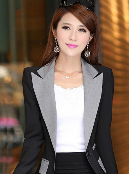 Fashion Patchwork Blazer Women 2020 New Arrival Casual Slim Long Sleeve Single Button Ladies Office Wear Blazer Feminino Jackect