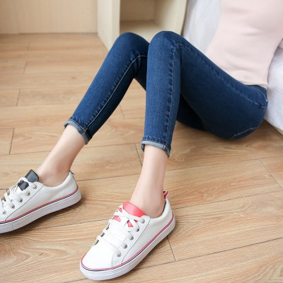 Fashion Summer autumn white jeans Women high waist skinny Pencil denim pants Female black casual plus size Stretch jeans
