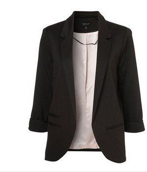 Fashion Women Blazers Coat Jacket brand ,Lady plus size Seven-Sleeve Solid Suits XXL F4299
