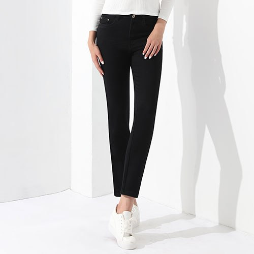 Female Jeans Black Casual Denim High Waisted Mom Jeans Woman 2020 Female Clothing Pants Stretch Jean Femme Trousers GAREMAY