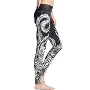 Female New Arrival Cool Individual Leggings 2017 Octopus 3D Print Fashion Legging Bodycon Slim Fitness Pant L0011 High Quality