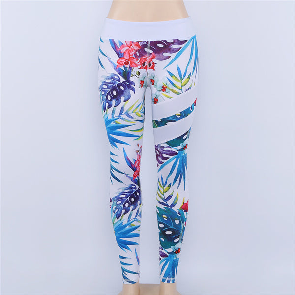 Floral Printed Skinny Fitness Women Leggings High Waist Sporting Pants Leggings Workout Casual Gyming Clothing For Women Leggins