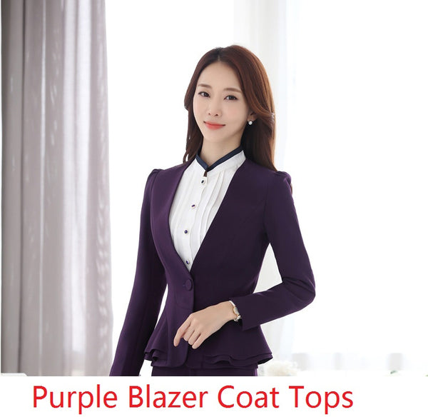 Formal  Styles Professional Plus Size 5XL Autumn Winter Blazers Coat Jackets For Business Women Female Tops Outwear