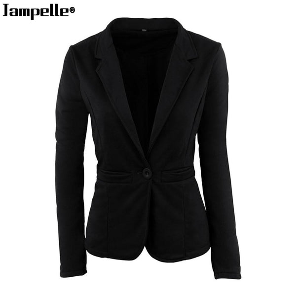 Formal Women Blazer Autumn Winter Fashion Office Lady Style Candy Color Outwear Slim fit Coat Youthful Elegant Female Jacket Top