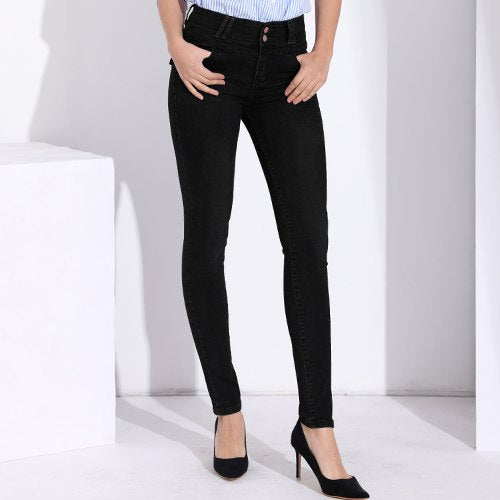 Women Jeans With High Waist Skinny Denim Pants Black Strech Jeans Woman Femme 2020 Spring Ladies Denim Clothing Women