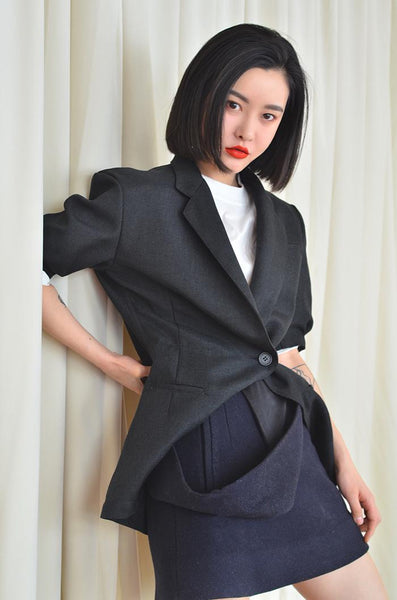 Women Blazer Womens Jackets 2020 Spring Autumn Linen Retro Half Sleeves Suit Women Ladies Blazer Jacket Black Suit Coat